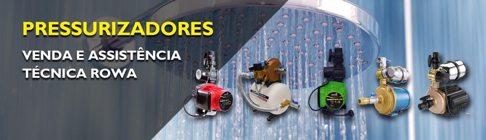 Pressurizadores, venda e assistência técnica rowa