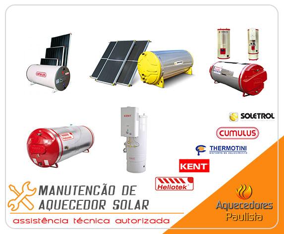 Manutenção de Aquecedor Solar Thermotini, Cumulus, Kent, Heliotek, Soletrol, Komeco