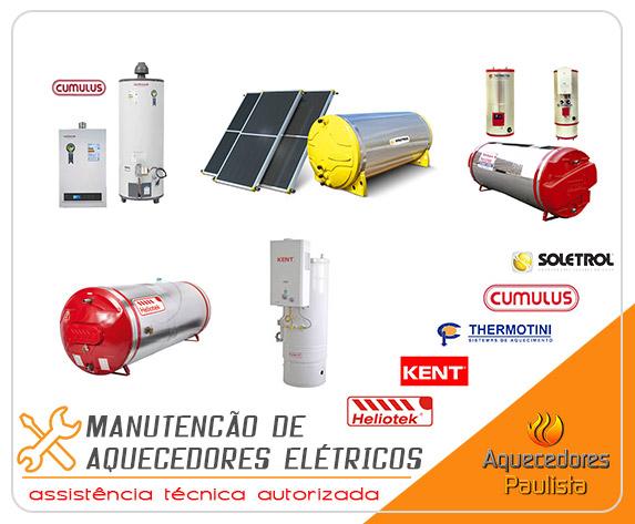 Manutenção de Aquecedores Elétricos Thermotini, Cumulus, Kent, Heliotek, Soletrol