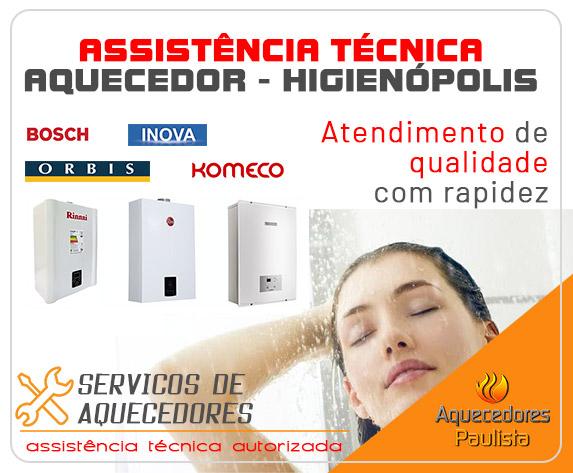 Assistência Técnica de Aquecedores Higienópolis